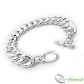 925 Sterling Silver Nomad Ladies Curb Bracelet - Toggle Clasp