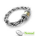 Ladies 925 Sterling Silver Nomad Java Loop Bracelet