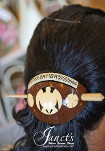 Samoan Hair Comb CC31-Turtle