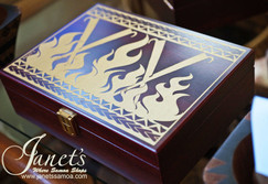 Engraved Pacific Box L CC35-Flame