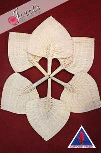 Set of 6 Samoan Fan CW57-6 plain