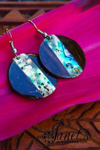 Coconut Earring w/ Paua JIP06