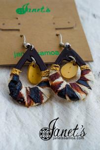 Coconut Earring w/ Tapa JITE01