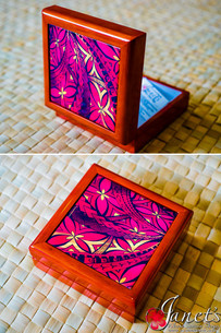 Samoan Tile Box CC30-Red Waves