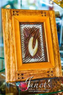 Framed Samoan Shell Hook BRF110