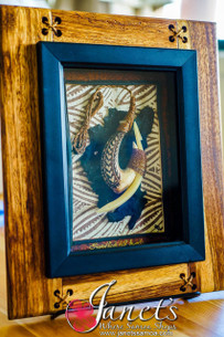 Framed Shell and Fish Bone Hook BRF112