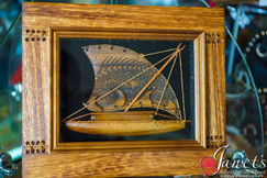 Framed Samoa Man of War BRF104