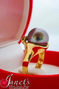 Tahitian Pearl Ring JFGR11