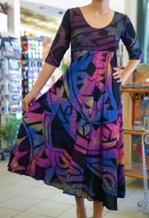 Janet's KALOLO DRESS PURPLE