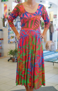Janet's KALOLO DRESS RAINBOW