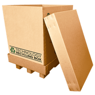 Half Pallet Electronics Recycling Box - Serialized