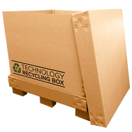 Full Pallet Electronics Recycling Box | Serialized