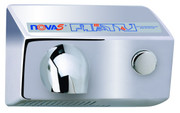 World Dryer Nova 5 011299 and 012299 Aluminum Polished Chrome Push Button hand dryer