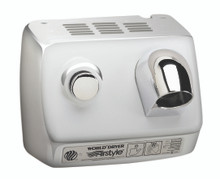 World Dryer AirStyle Model B DB-972 Polished Stainless Steel commercial hair dryer