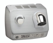 World Dryer AirStyle Model B DB-973 Brushed Stainless Steel commercial hair dryer