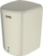 PSiSC Columbia Vortex HD-618-210 (110-120V) and HD-628-210 (220-240V) Ivory Steel Automatic Surface Mount Hand Dryer