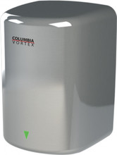 PSiSC Columbia Vortex HD-616-210 (110-120V) and HD-626-210 (220-240V) Bright Chrome Steel Automatic Surface Mount Hand Dryer