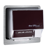 World Dryer Brushed Stainless Steel Recess Kit KNTR-973 for the Airspeed and NoTouch hand dryers