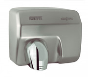 SANIFLOW Series E88ACS Automatic Steel Satin Chromed Hand Dryer from Saniflow - 360° Revolving Nozzle, Surface Mounted Design