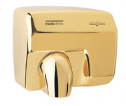 SANIFLOW Series E88AO Automatic Steel Golden Chromed Hand Dryer from Saniflow - 360 Revolving Nozzle, Surface Mounted Design