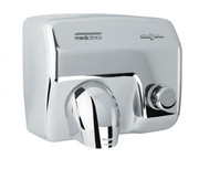 SANIFLOW Series E88C Push Button Steel Bright Chromed Hand Dryer from Saniflow - 360 Revolving Nozzle, Surface Mounted Design