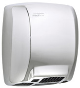 MEDIFLOW Series M03AC Automatic Stainless Steel Bright Hand Dryer from Saniflow - Basic, Warm Air Electric Dryer, Surface Mounted Design