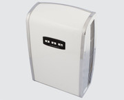 ONE Series C-100000000 Cast Zinc and Steel Automatic White ADA Restroom Hand Dryer from Comac - Universal Voltage, Surface Mounted Design