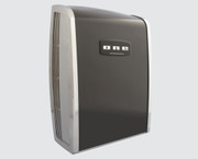 ONE Series C-100000002 Cast Zinc and Steel Automatic Black ADA Compliant Hand Dryer from Comac - Universal Voltage, Surface Mounted Design