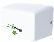 EcoStorm White Steel Hand Dryer from Palmer Fixture - HD0940-17 WH and HD0941-17  WH - Surface Mounted - a Green Hand Dryer!