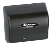 AD90-BGH Advantage wall mounted hair dryer by American Dryer in Steel Black Graphite