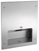ASI Simplicity 0133 Fully Recessed Hand Dryer in satin stainless steel is ADA compliant and universal voltage.