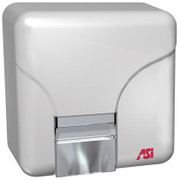ASI Porcelair 0141 and 0144 Hand Dryer in white.