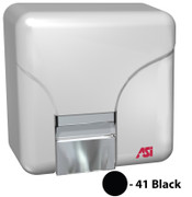 ASI Porcelair 0141-41 and 0144-41 Hand Dryer in black.