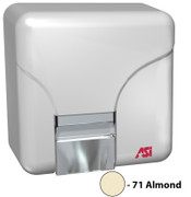 ASI Porcelair 0141-71 and 0144-71 Hand Dryer in almond.