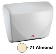 ASI Roval 0195-71 Hand Dryer is Universal Voltage, ADA compliant, and has an almond cast iron cover.