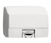 Bobrick B-700 AirCraft Hand Dryer has a white cast iron cover.