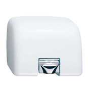 Bobrick AirGuard B-708 Hand Dryer has a white cast iron cover.