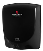 World Dryer VERDEdri Q-162A Black aluminum hand dryer is ADA compliant and dries hands fast in 12 seconds