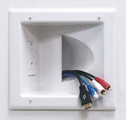 World VMax Hand Dryer DataComm 93-45-0031-WH Recessed Duplex Receptacle
