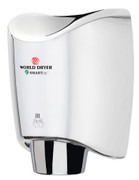 World Dryer SMARTdri K-970 Aluminum Polished Chrome electric hand dryers