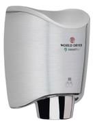 World Dryer K-971 Aluminum Brushed Chrome Smartdri hand dryer
