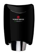 World Dryer SMARTdri K-162 Aluminum Black restroom hand dryer