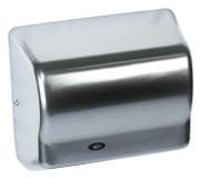 American Dryer Global GX1-C Steel Satin Chrome restroom hand dryer