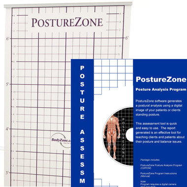 Portable posture chart and posture screening software