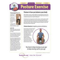 A professional educational poster for your office explaining the benefits of posture exercise.