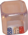 3 x 6 Sided Dice inside clear Dice
