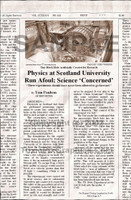 Fake Joke Newspaper Article TINY BLACK HOLE ARTIFICIALLY CREATED FOR RESEARCH