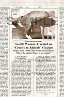 Fake Joke Newspaper Article HORSE CRAZY