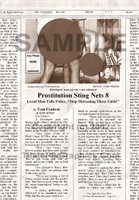 Fake Joke Newspaper Article PROSTITUTION STING NETS 8