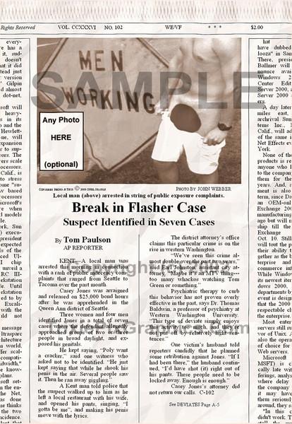 Fake Joke Newspaper Article OVER-EXPOSED AGAIN!